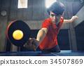 乒乓球運動員的男人 34507869