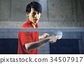 乒乓球運動員的男人 34507917