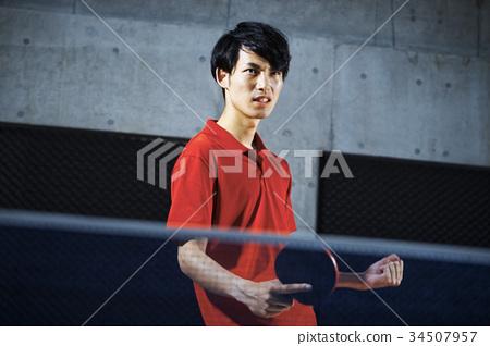 乒乓球運動員的男人 34507957