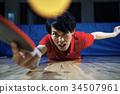 乒乓球运动员的男人 34507961