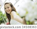婚礼 新娘 微笑 34508363