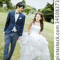 婚礼 新郎新娘 人 34508373