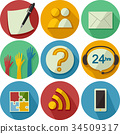 Icons Feedback Interaction Illustration 34509317