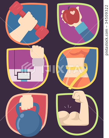 Icons Work Out Illustration 34509322