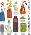 Condiments Illustration 34509347