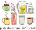 Hot Cold Beverage Illustration 34509348