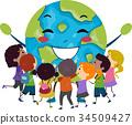 孩子 小孩 拥抱 34509427