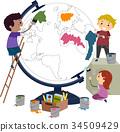 孩子 小孩 绘画 34509429