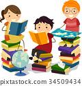 stickman kids study 34509434