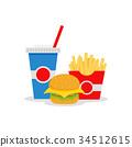 french, fries, hamburger 34512615