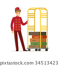 bellhop, bell, red 34513423