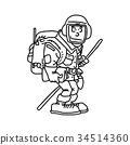 hiker with backpack vector illustration 34514360