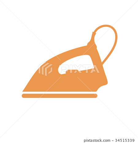 Stylized icon of a colored iron 34515339