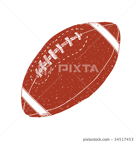 American football, rugby ball hand drawn vector 34517453