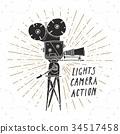 照相机 复古 标签 34517458