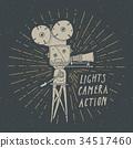 camera, vintage, label 34517460