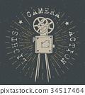 照相机 复古 标签 34517464