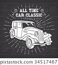 vintage retro label 34517467