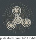 vector spinner vintage 34517569