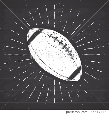 Football, rugby ball vintage retro label vector 34517576