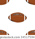 Football, rugby ball seamless pattern vector 34517594