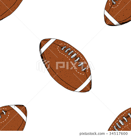 Football, rugby ball seamless pattern vector 34517600