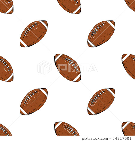 Football, rugby ball seamless pattern vector 34517601