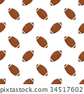 Football, rugby ball seamless pattern vector 34517602