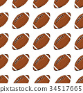Football, rugby ball seamless pattern vector 34517665