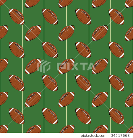 Football, rugby ball seamless pattern vector 34517668