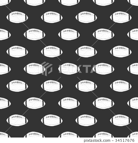 Football, rugby ball seamless pattern vector 34517676