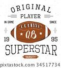 T-shirt print design Football superstar vector 34517734