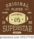 T-shirt print design Football superstar vector 34517740