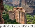abbey, cliff, meteora 34517793