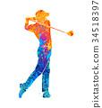 golf, sport, vector 34518397