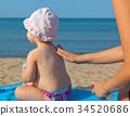 Baby sunscreen cream. 34520686