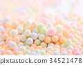 Colorful Foam ball isolated in white background 34521478