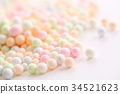 Colorful Foam ball isolated in white background 34521623