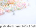 Colorful Foam ball isolated in white background 34521748