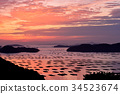 Seto Inland Sea, sunrise, morning glow 34523674