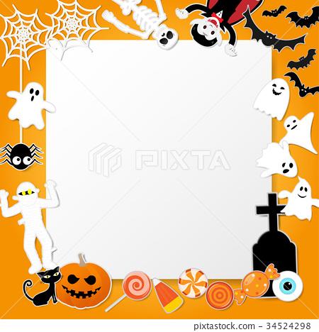 Happy halloween characters in cartoon style 34524298