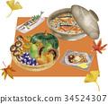 秋天 秋 食品 34524307
