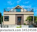 新建的独立式住宅 34524506