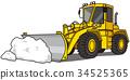 铲雪作业 除雪 轮式装载机 34525365