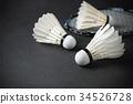 แบดมินตัน,ขนนก,แรคเก็ต, 34526728