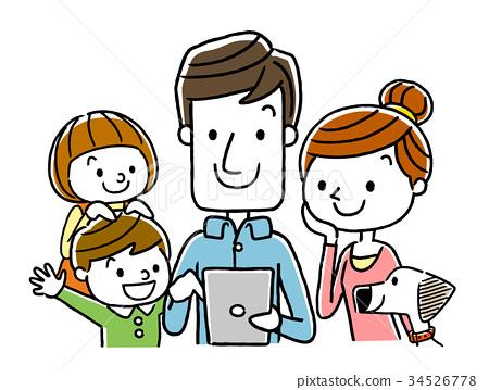 家庭:平板电脑,互联网 34526778