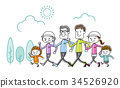 가족 : 운동 걷기 34526920