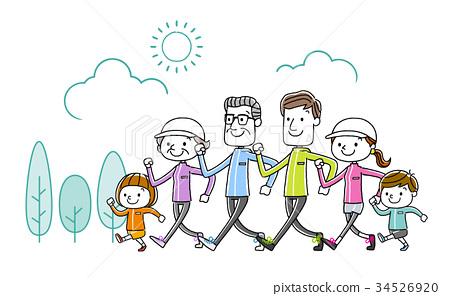 家庭:運動,步行 34526920