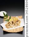 天婦羅 滑菇 油炸的 34528604