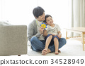 父母和小孩 親子 爸爸 34528949